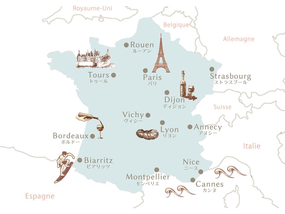 フランス都市・地図